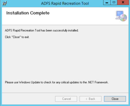 Backup and Recovery with the AD FS Rapid Restore Tool | The